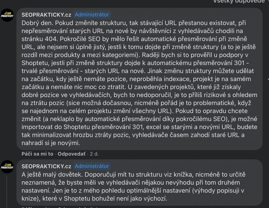 SEO prakticky - štruktúra URL adries